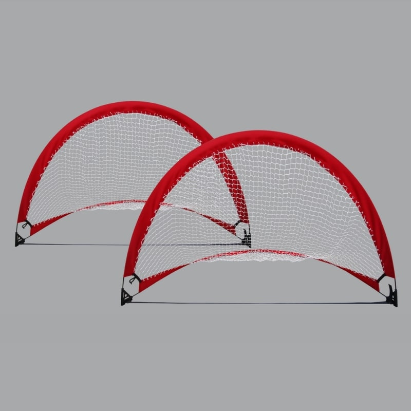 OPEN BOX Woodworm 4ft Portable Pop up Soccer Goal Set (Set of 2)