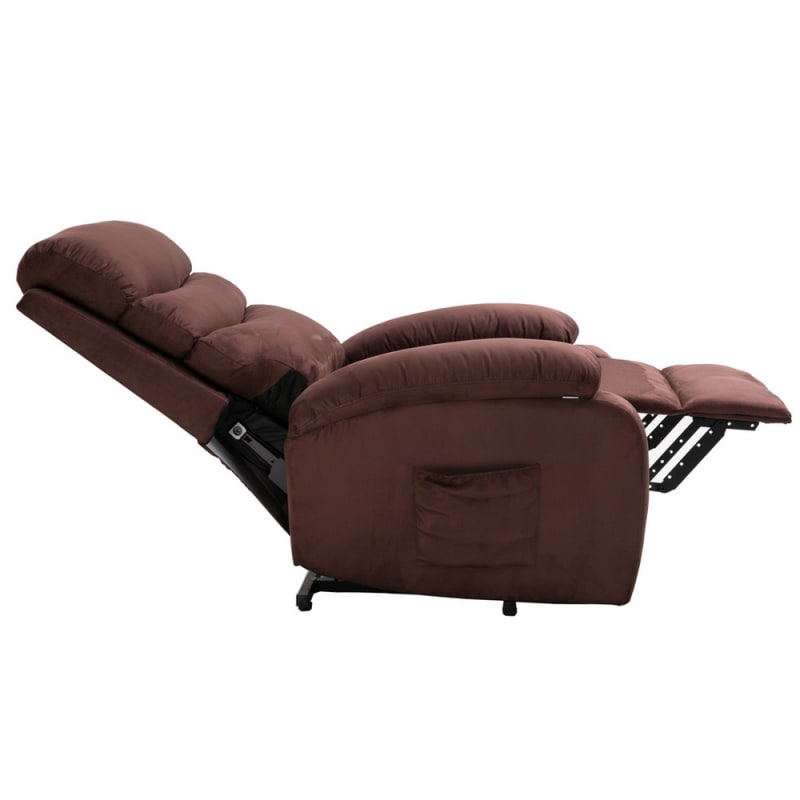 Groovy Homegear Microfiber Power Lift Electric Recliner Chair With Massage Heat And Vibration With Remote Brown Gamerscity Chair Design For Home Gamerscityorg
