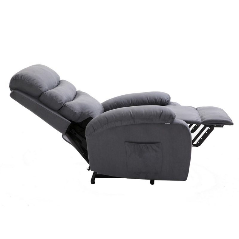 Surprising Open Box Homegear Microfiber Power Lift Electric Recliner Chair With Massage Heat And Vibration With Remote Charcoal Bralicious Painted Fabric Chair Ideas Braliciousco