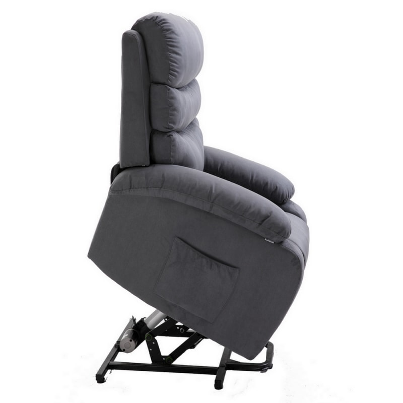 Homegear Microfiber Power Lift Electric Recliner Chair with Massage, Heat and Vibration with Remote - Charcoal #5