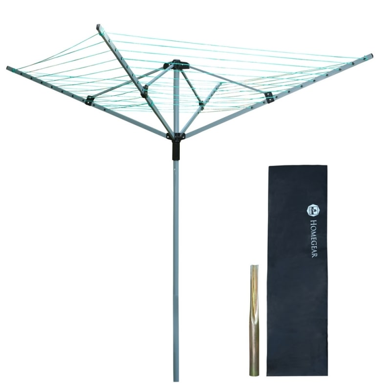 Homegear 4 Arm 40m Rotary Airer / Washing Line
