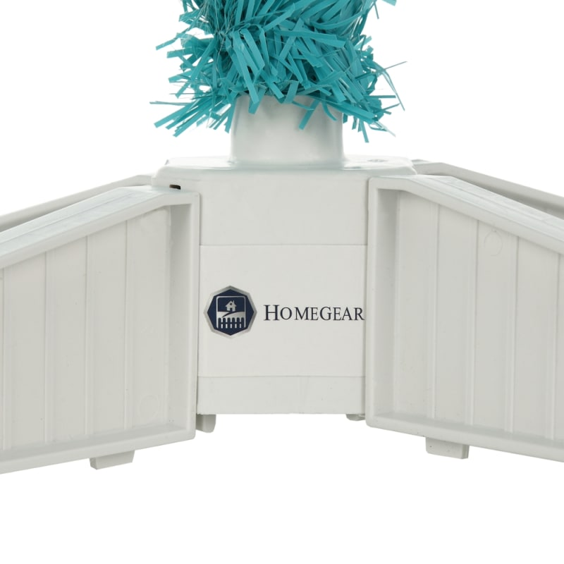 OPEN BOX Homegear 6FT Artificial Turquoise Christmas Tree #4