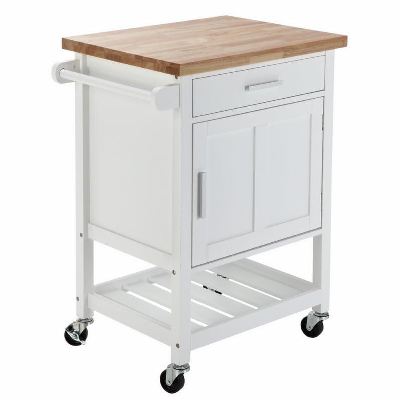 OPEN BOX Homegear Compact Kitchen Storage Cart Island White