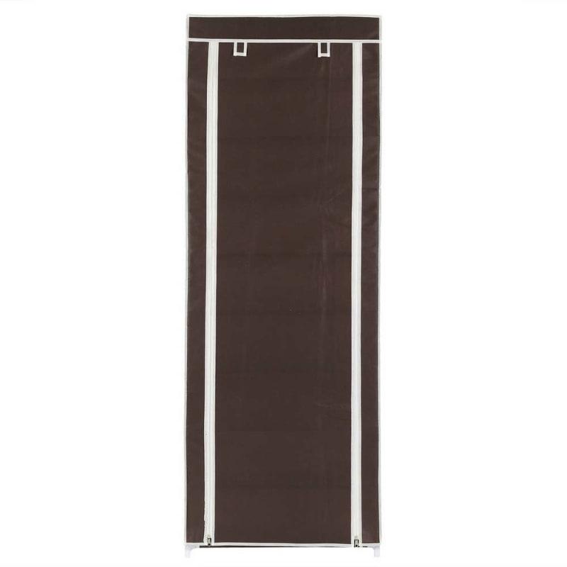 OPEN BOX Homegear Large Free Standing Fabric Shoe Rack /Storage Cabinet Dark Brown #1