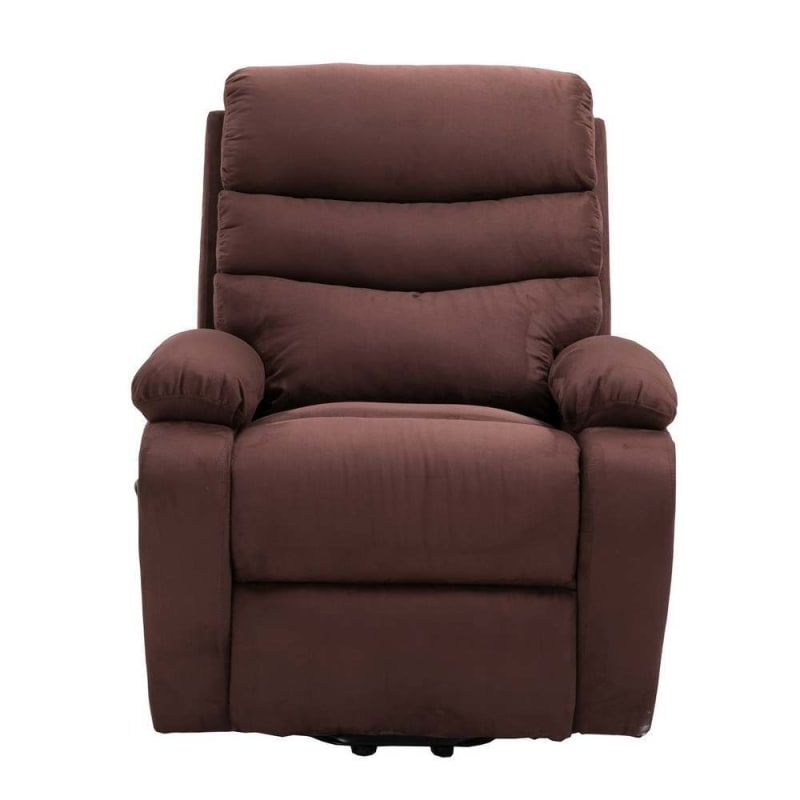 Homegear 2-Remote Microfiber Power Lift Electric Recliner Chair V2 with Massage, Heat and Vibration with Remote - Brown #1
