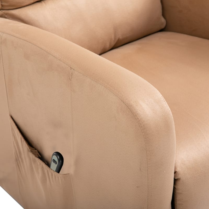 Homegear Microfiber Power Lift Recliner Chair with Electric Recline and Remote Taupe