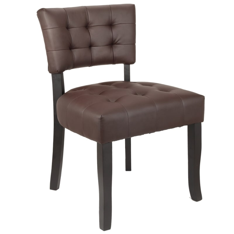 Incredible Homegear Oversized Tufted Faux Leather Accent Chair Brown Creativecarmelina Interior Chair Design Creativecarmelinacom