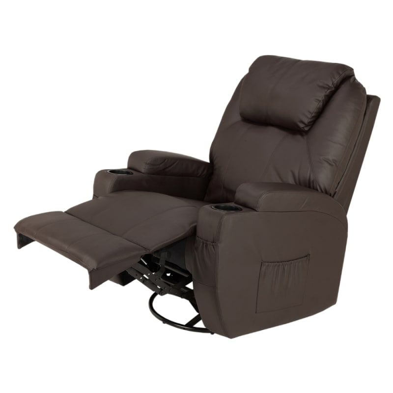 Homegear Recliner Chair with 8 Point Electric Massage and Heat - Brown #2