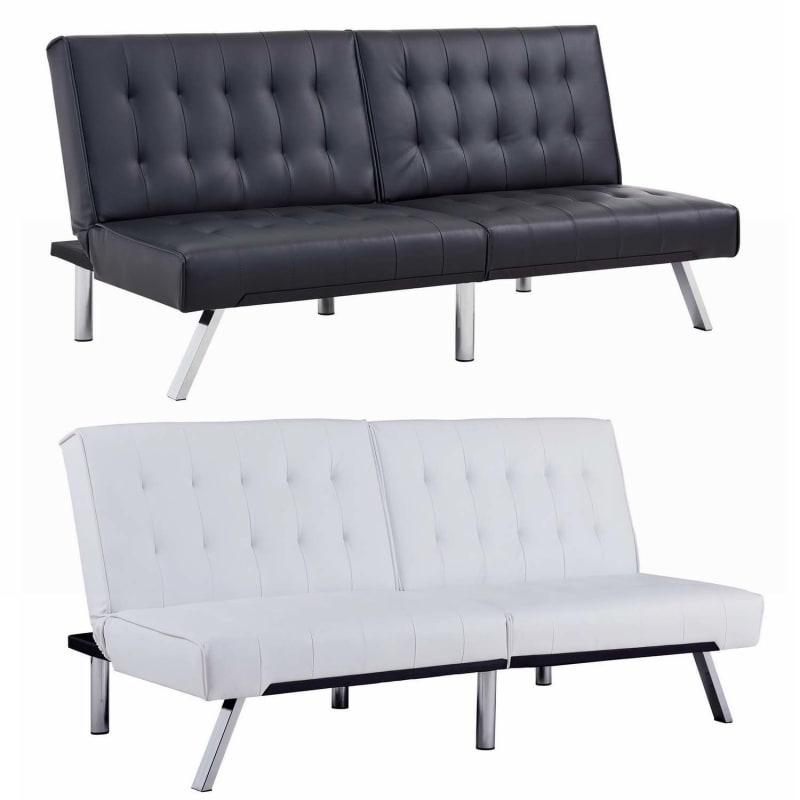 Sensational Open Box Homegear Furniture Futon Sofa Bed Split Back Couch Machost Co Dining Chair Design Ideas Machostcouk