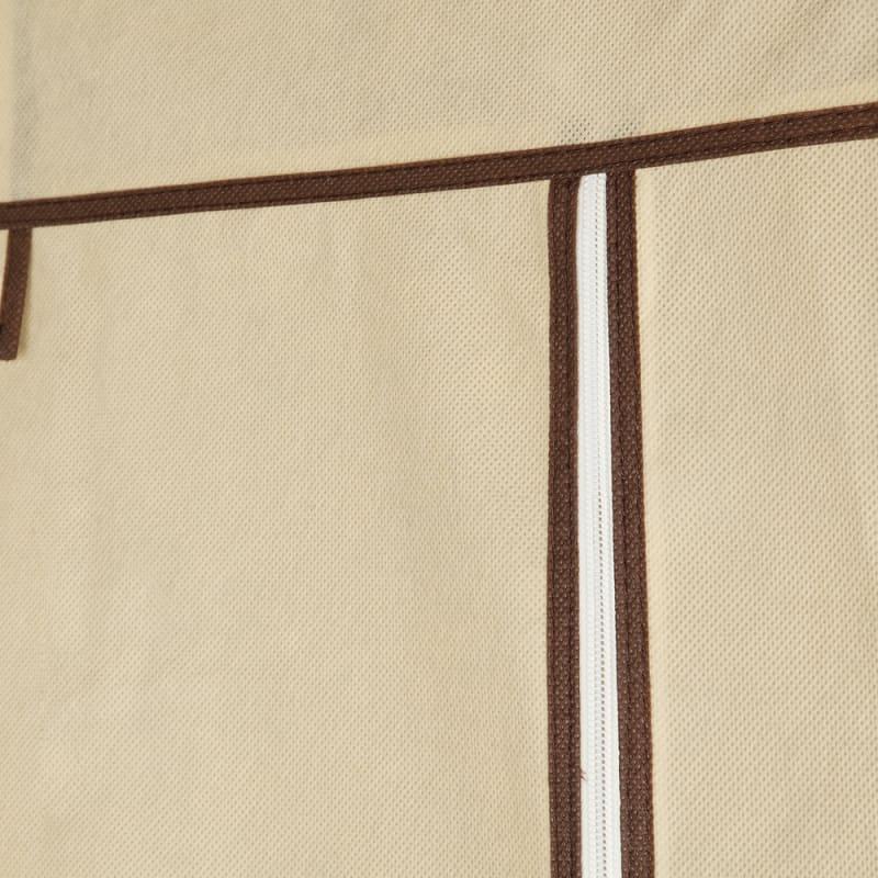 Homegear Triple Fabric Portable Wardrobe Closet Cream #8
