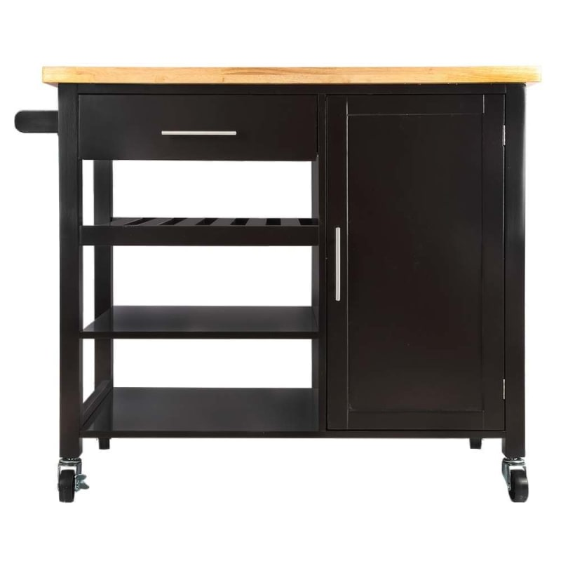 Homegear Utility V3 Kitchen Cart with Storage Cabinet Island on Wheels  #1
