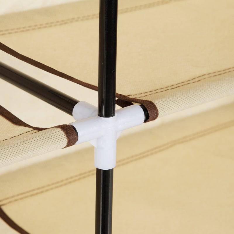 Homegear XL Free Standing Fabric Shoe Rack /Storage Cabinet Cream #5