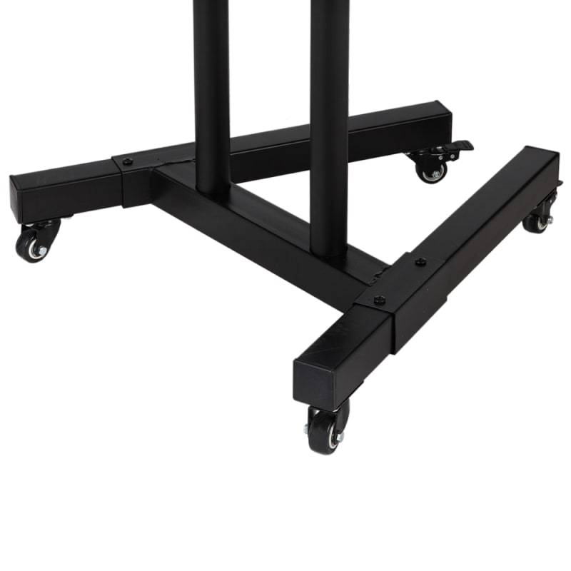 OPEN BOX Homegear Portable TV Cart Stand with Height / Tilt Adjustable Universal Mount on Wheels #4