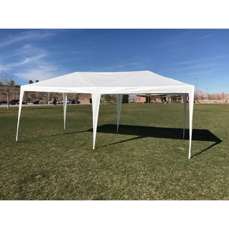 Palm Springs 10' x 20' White Canopy Party Tent with 4 Sidewalls #1