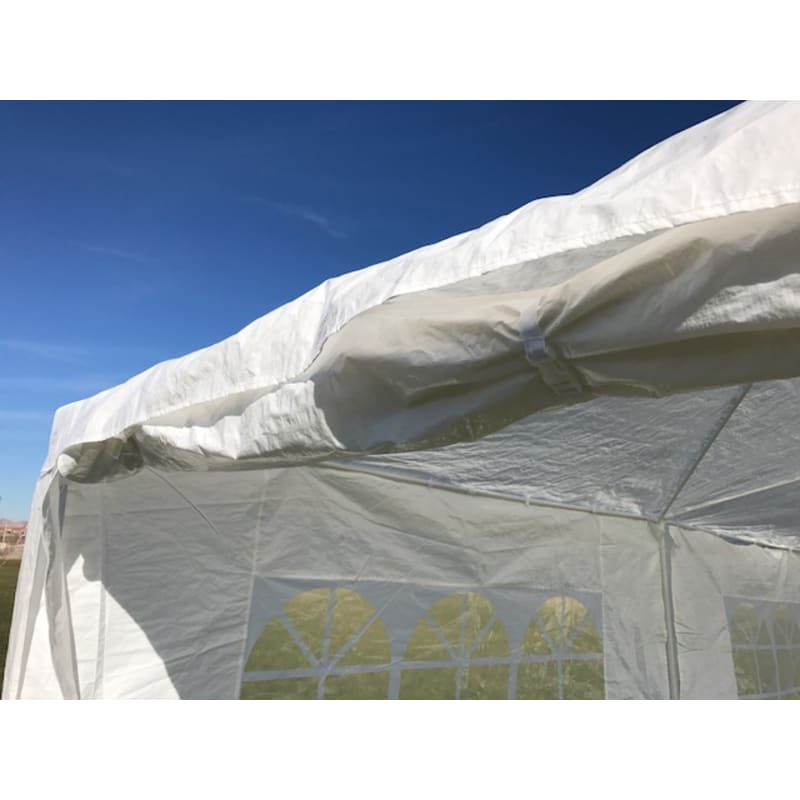 Palm Springs 10' x 20' White Canopy Party Tent with 4 Sidewalls #5