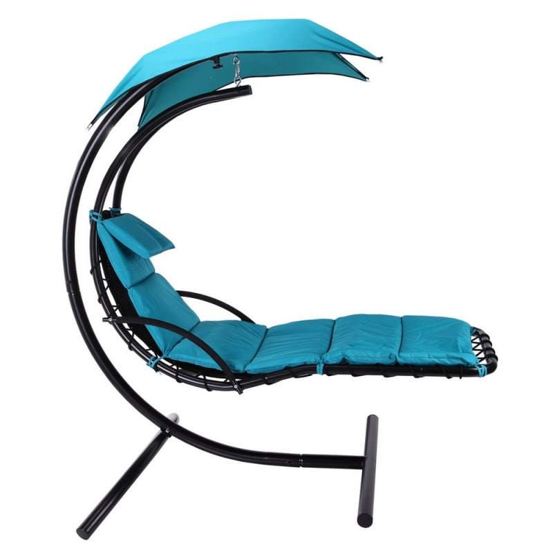 Palm Springs Outdoor Hanging Chair Recliner Teal Just