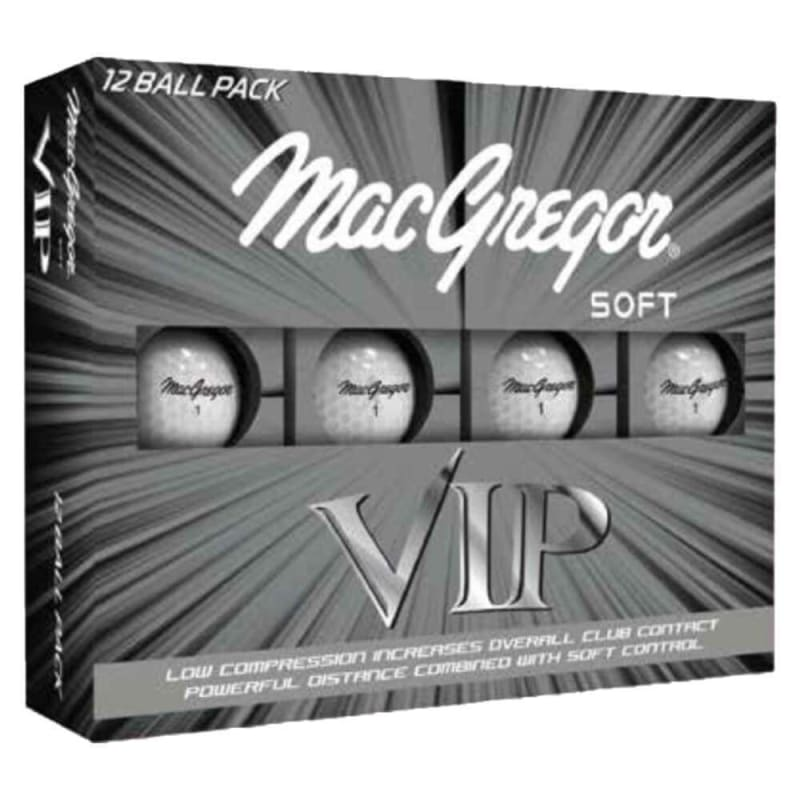 MacGregor VIP Soft Core Golf Balls White