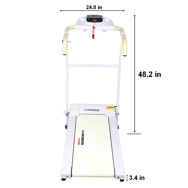 Confidence Fitness TP-1 Electric Treadmill Folding Motorized Running Machine - White #2