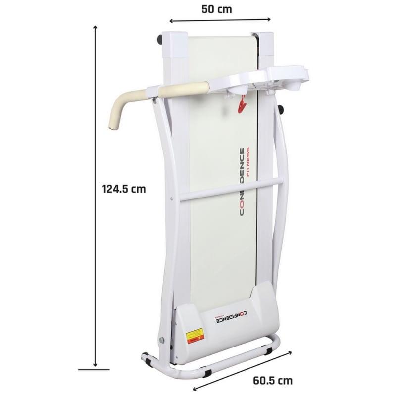 Confidence TP-1 Electric Treadmill Folding Motorised Running Machine White