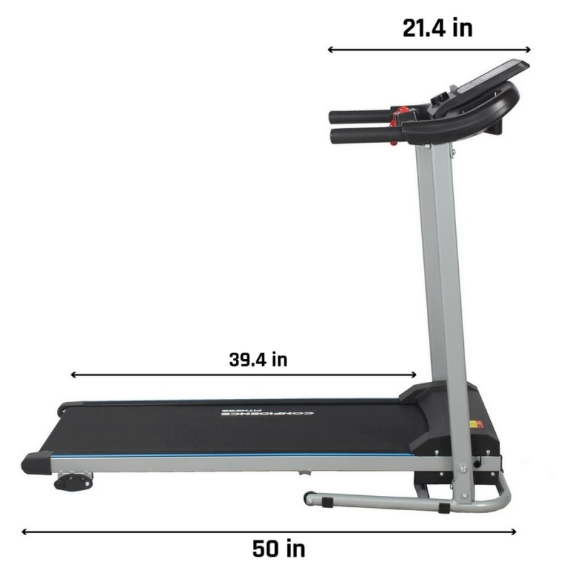 Confidence Fitness TP-2 Electric Treadmill Motorized Running Machine with Incline #2