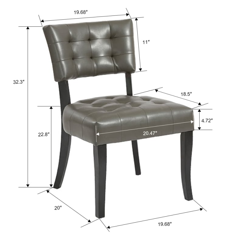 Homegear Oversized Tufted Faux Leather Accent Chair, Gray #4