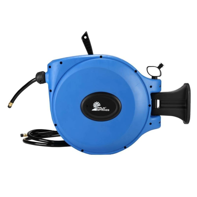 """OPEN BOX Palm Springs 65ft Retractable Air Hose Reel - Wall Mounted with 180° Swivel - 65ft 3/8"""" Hose 300 PSi #1"""