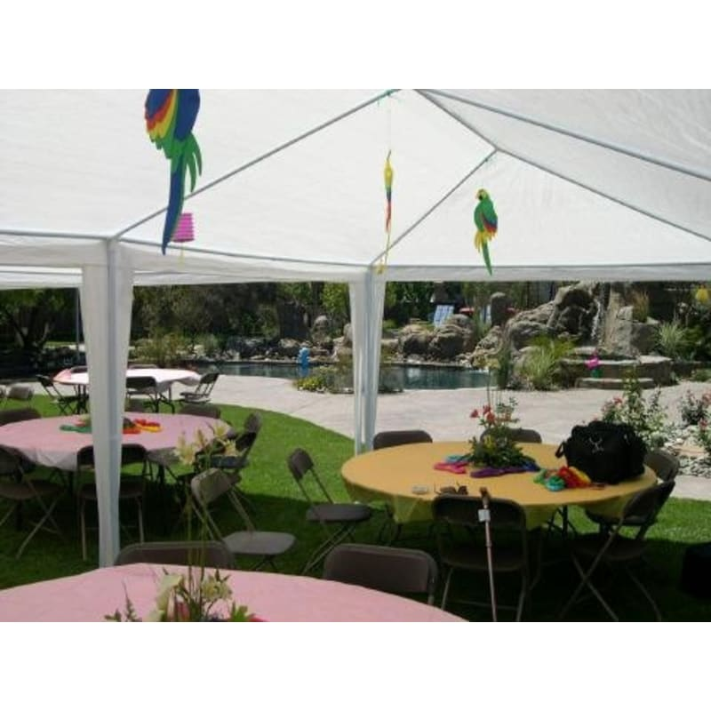 Palm Springs 10' x 20' White Canopy Party Tent with 6 Sidewalls #
