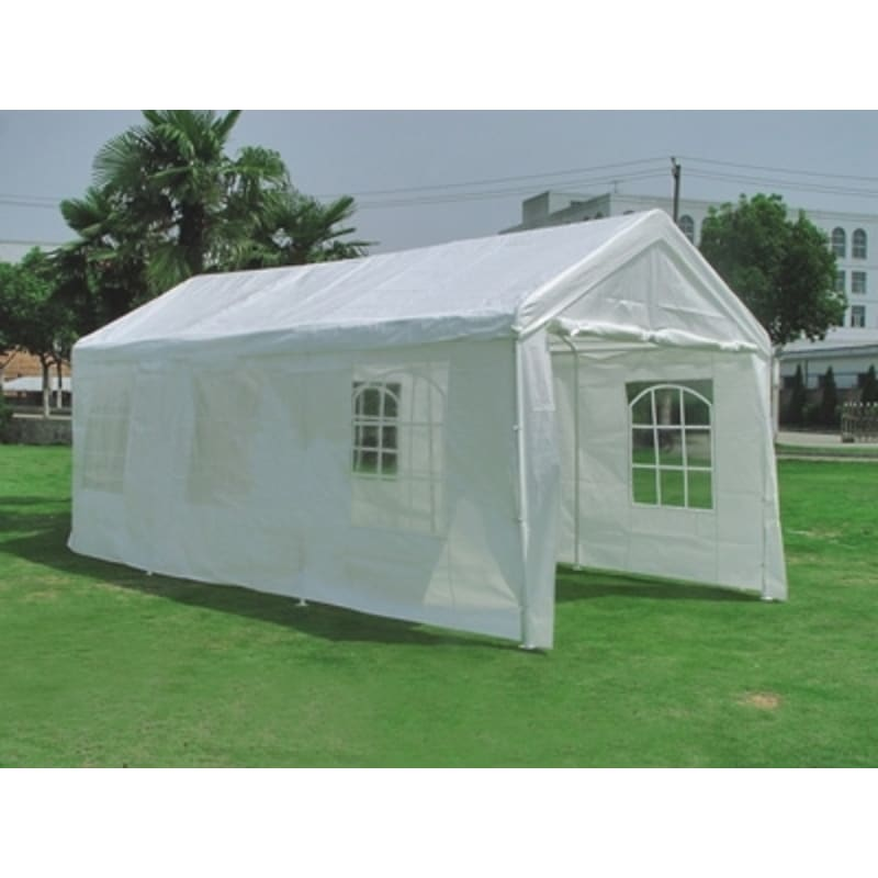 OPEN BOX Palm Springs 10' x 20' HEAVY DUTY White Party Tent Gazebo #1