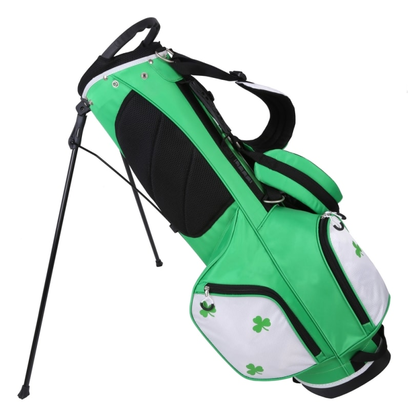 "Prosimmon Golf DRK 7"" Lightweight Golf Stand Bag with Dual Straps - Irish #1"