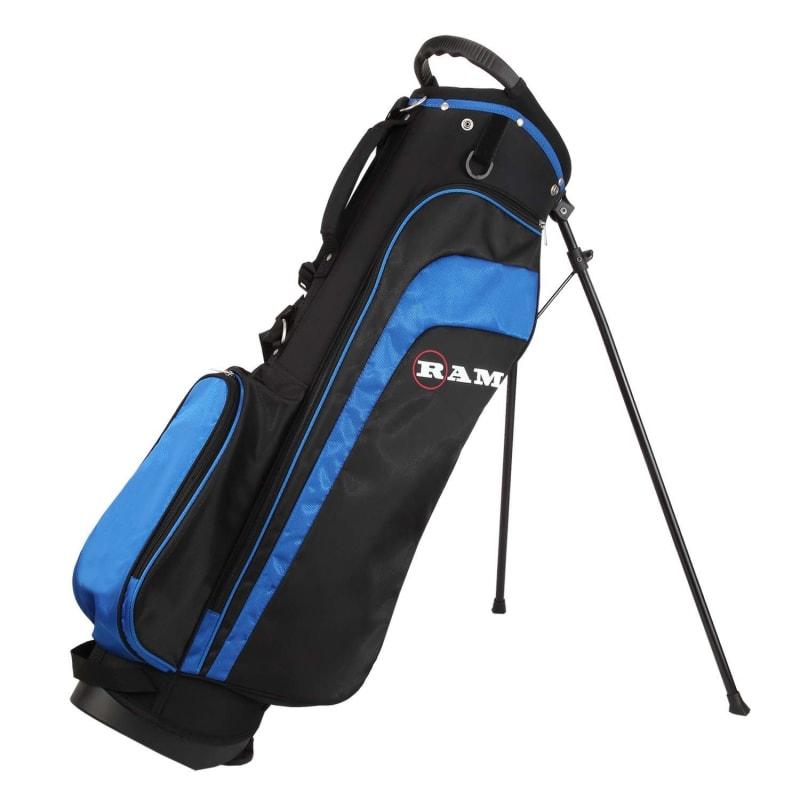 "Ram Golf EZ3 Mens Tall +1"" Golf Clubs Set with Stand Bag - Graphite/Steel Shafts #10"