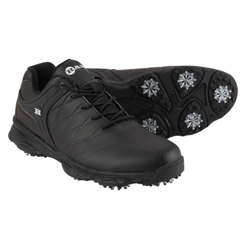 Ram Golf FX Tour Mens Waterproof Golf Shoes - Black #