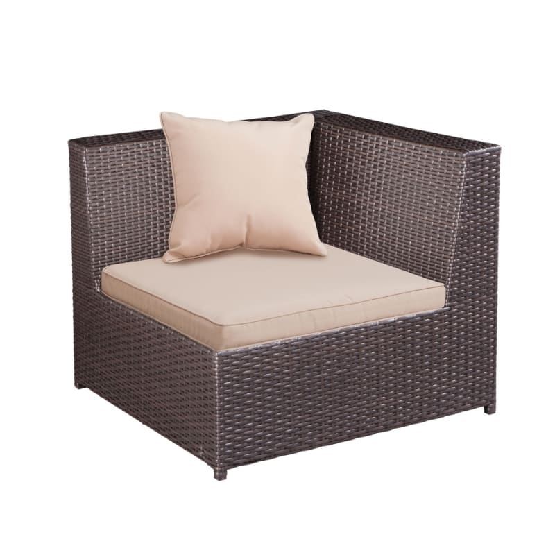 Palm Springs Outdoor 5 pc Furniture Wicker Patio Set w/ Chairs, Table & Cushions #4