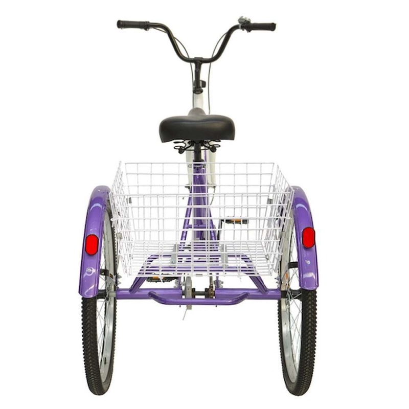 Royal London Adult Tricycle 3 Wheeled Trike Bicycle with Wire Shopping Basket - Purple #2