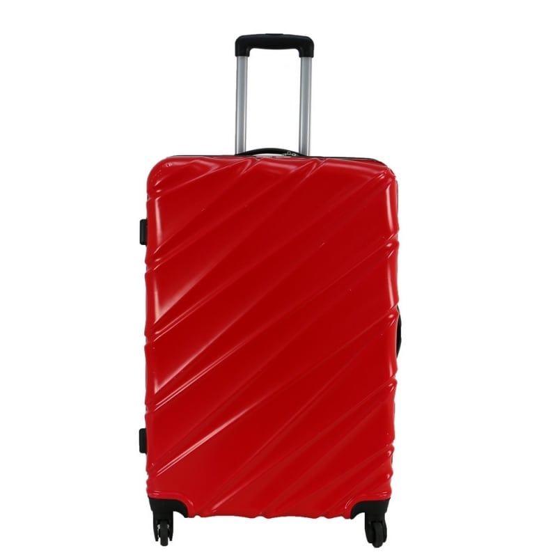 "Swiss Case 28"" 4 Wheel Wave Large Suitcase Red"