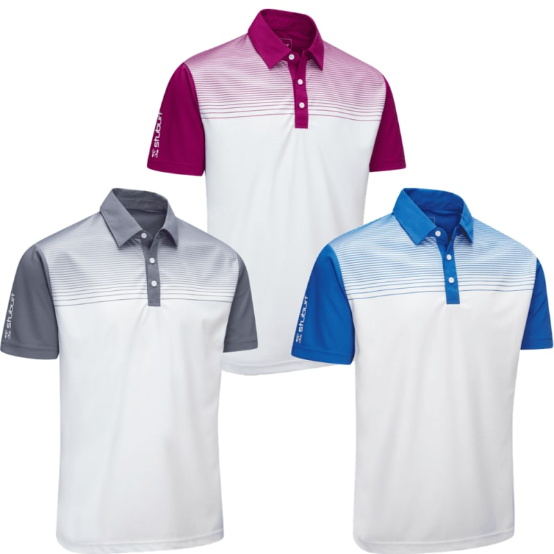 Stuburt Endurance Faded Stripe Polo Shirt 3 Pack