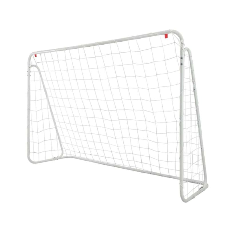 OPEN BOX Woodworm Metal Soccer Goal - 6ft x 4ft Soccer Goal with Target Nets #1