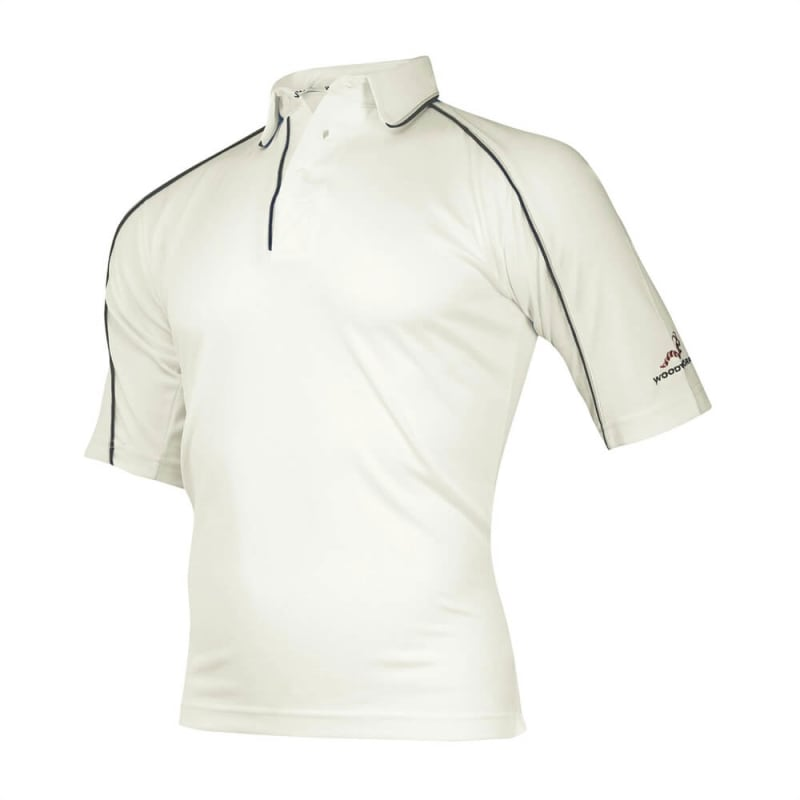 Woodworm Cricket Shirt Navy Trim