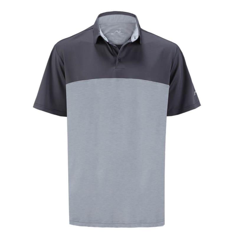 Woodworm Golf Shirts - Heather Panel Polos - Mens