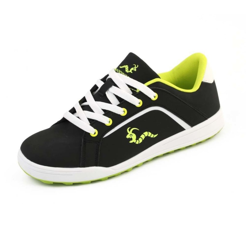 Woodworm Golf Surge V3 Mens Waterproof Golf Shoes Black/Neon