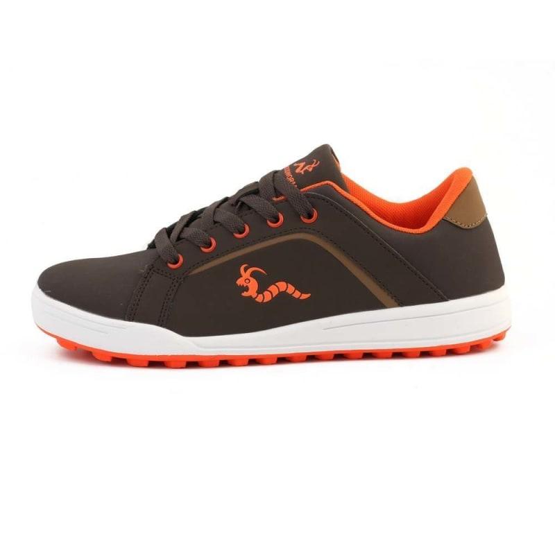 Woodworm Golf Surge V3 Mens Golf Shoes Brown/Orange #2
