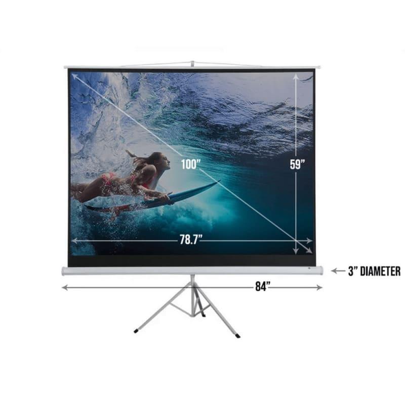 "Homegear 100"" 4:3 Tripod Projector Screen HD #3"