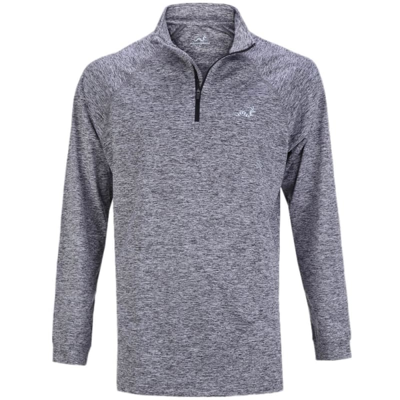 Woodworm Golf ¼ Zip Heather Pullover Sweater Grey