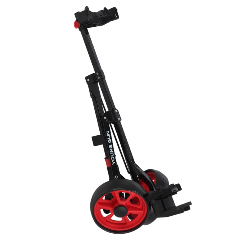 Young Gun Kids Adjustable Golf Cart for Junior Golfers 3-14 Years Old - Black/Red #5