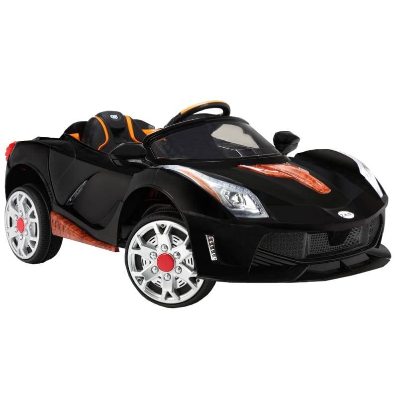 OPEN BOX ZAAP Sports Car 12v Ride On Kids Electric Battery Toy Car Black