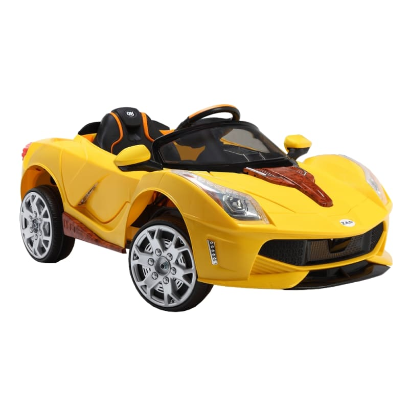 ZAAP Sports Car 12v Ride On Kids Electric Battery Toy Car Yellow