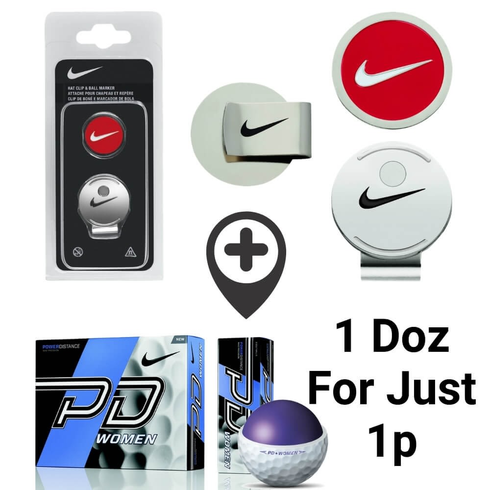 cc110fc3e3a Nike Golf Hat Clip and Ball Marker + 1 Doz Nike PD9 Golf Balls For Just a  Penny!