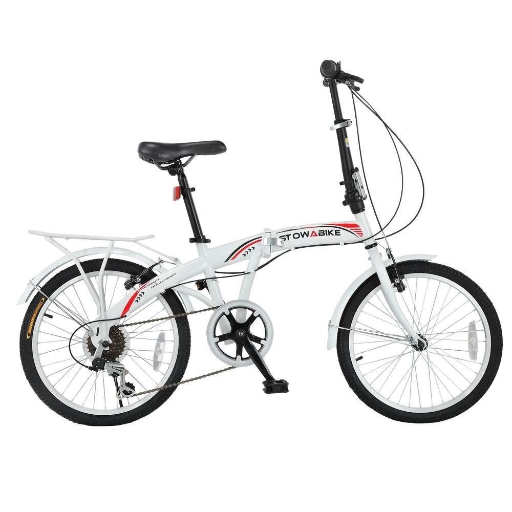 stowabike folding city v3 compact bike red    white just  159 99