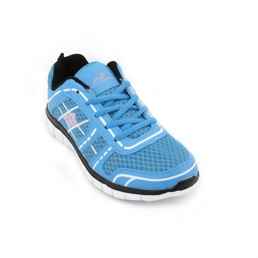 278e8c6b82e Woodworm FWS Ladies Running Shoes / Trainers Blue