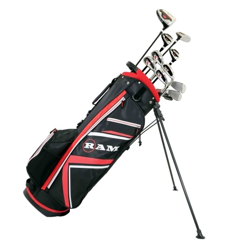 Ram Golf Accubar 16 pc Golf Clubs Set - Graphite Shafted Woods, Steel Shafted Irons - Mens Left Hand