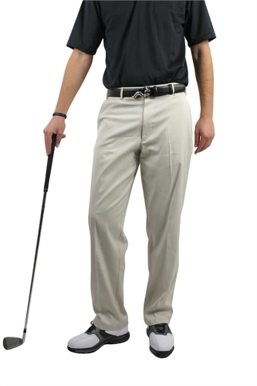 Woodworm DryFit Flat Front Golf Trousers Cream